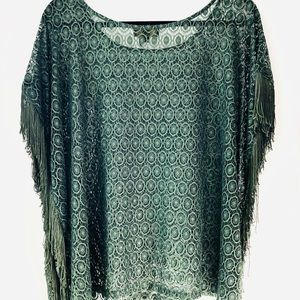 Buffalo jeans designer crop top shirt green boho
